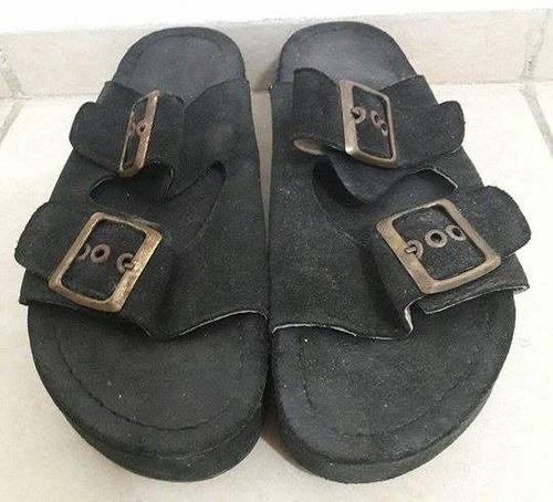 sandalias negras negociable