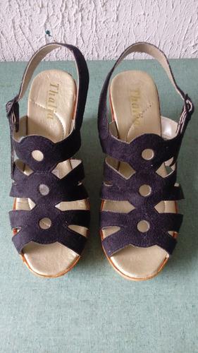 sandalias negras para dama talla 39