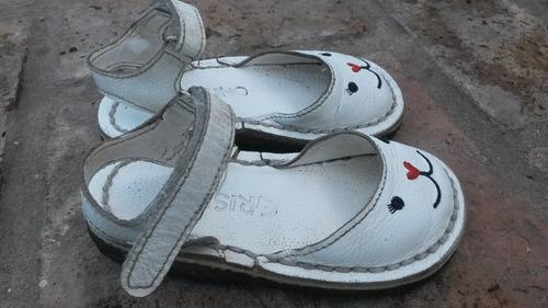 sandalias nena blancas 25