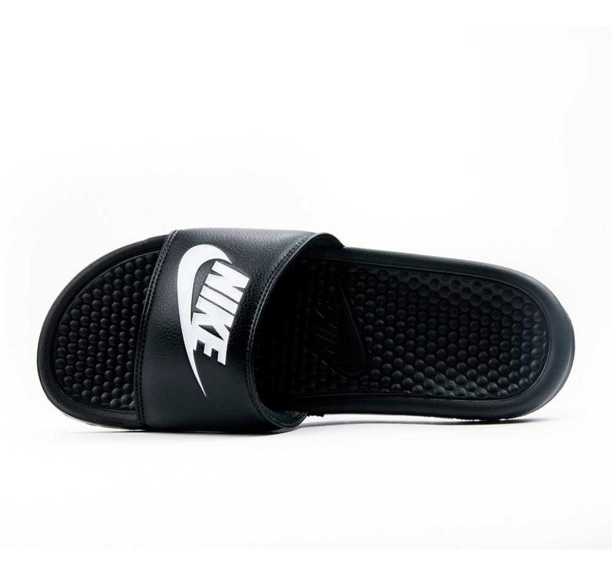 Sandalias Nike Benassi Jdi Para Hombre/ Negro, Blanco Y Azul
