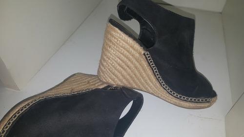 sandalias nobuk negras brash  de miami 38