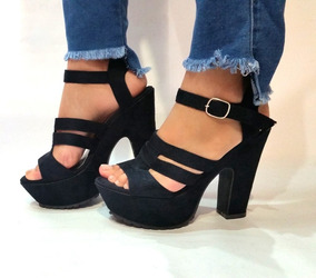 O Para Damas Calzado Sandalias Gamuzada Pk8O0nw