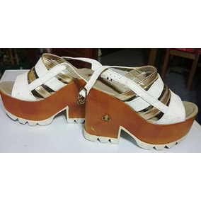 11ca59b2 Zapatos Con Plataforma Usados - Zapatos de Mujer Blanco, Usado en ...