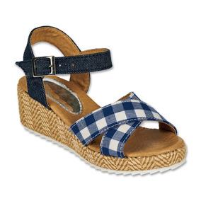 c3eac2081 Zapatos Sandalias Elegantes De Plataforma - Zapatos para Niñas Azul ...