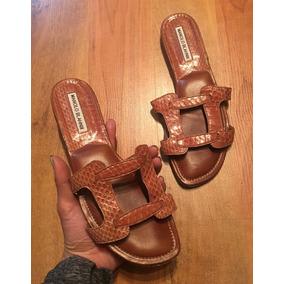 c3311095 Zapatos Sandalias Manolo Blahnik Eilsh Piel Miel 25 Original
