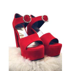 8fa0d36f9 Sandalia Taco 4 Cm - Zapatos Rojo en Mercado Libre Argentina