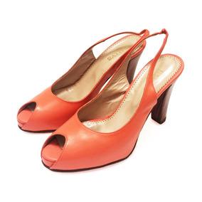 91cfe98570c04 Zapatos   Sandalias Ojo De Pez De Cuero Rallys Coral Nro 37