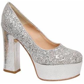 594db145b31 Zapatos De Xv Plateados Brillosos en Mercado Libre Argentina
