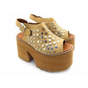 Piel Sandalias 2018 En Altas Plataforma Zapatos Mercado nO08wkPNX