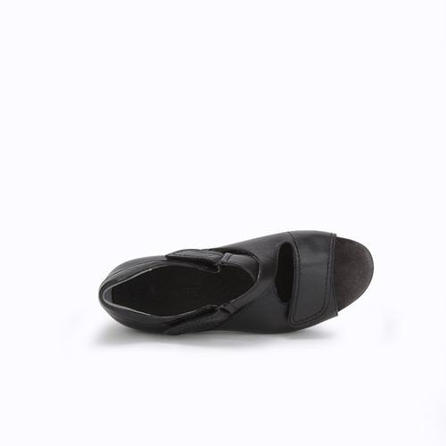 sandalias onena 8528 negro damas señoras ancho triple 3x spa