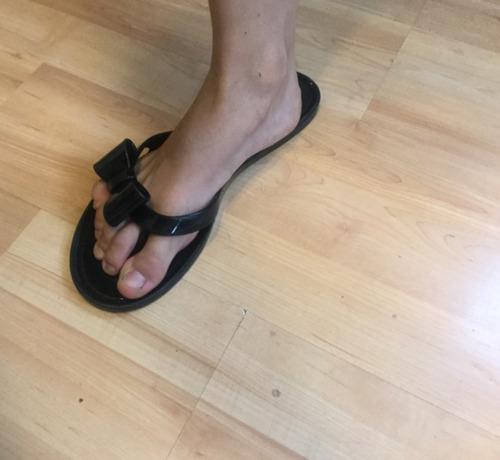 sandalias oysho negras mujer 24