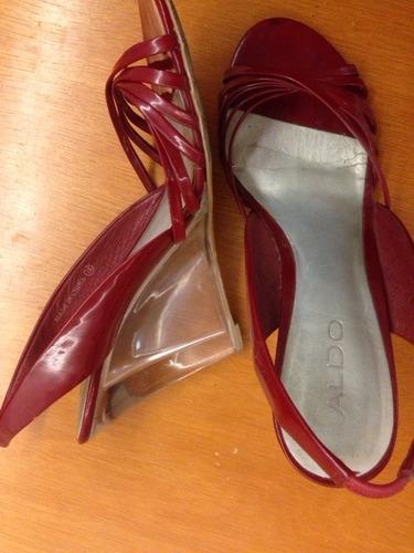 sandalias para damas color rojo