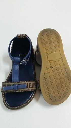 sandalias para niña fendi azul * la segunda bazar