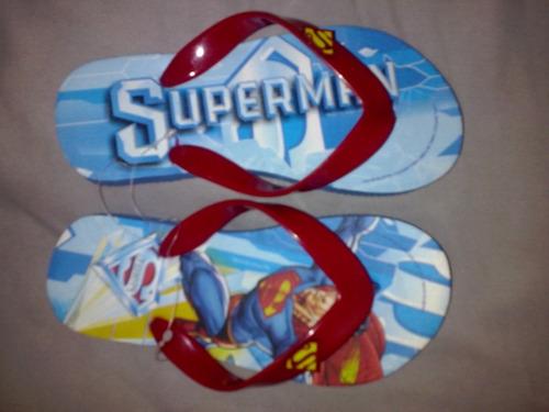 sandalias para niño de superman nuevas