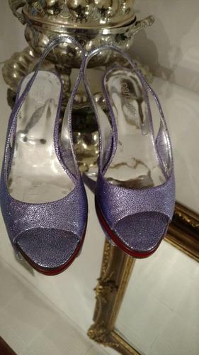 sandalias paruolo violetas