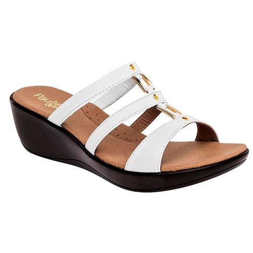 sandalias paulie para dama blanco 76361 originales