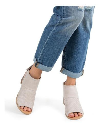 sandalias peep toe color avena  - qupid