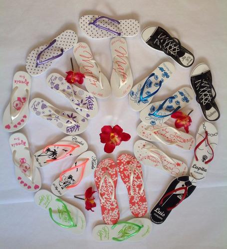 sandalias personalizadas bodas, xv años, bautizos y eventos