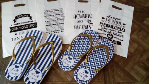 sandalias personalizadas bolsita de regalo envio gratis
