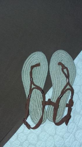 sandalias planas importadas solo fuscia talla 38 (26cm)