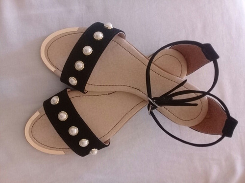 sandalias planas para dama