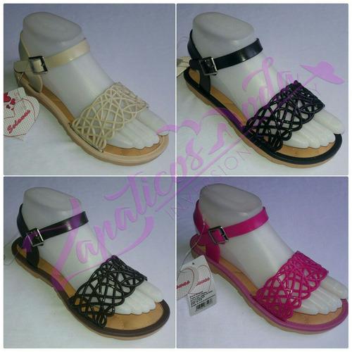 sandalias plasticas, calzado de dama al mayor y detal