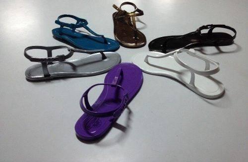 sandalias plásticas tipo playeras de damas y de niñas