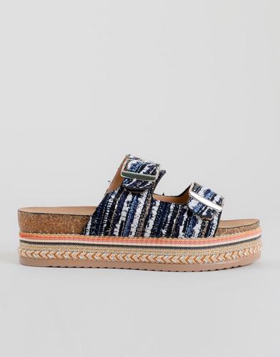 sandalias plataforma azules