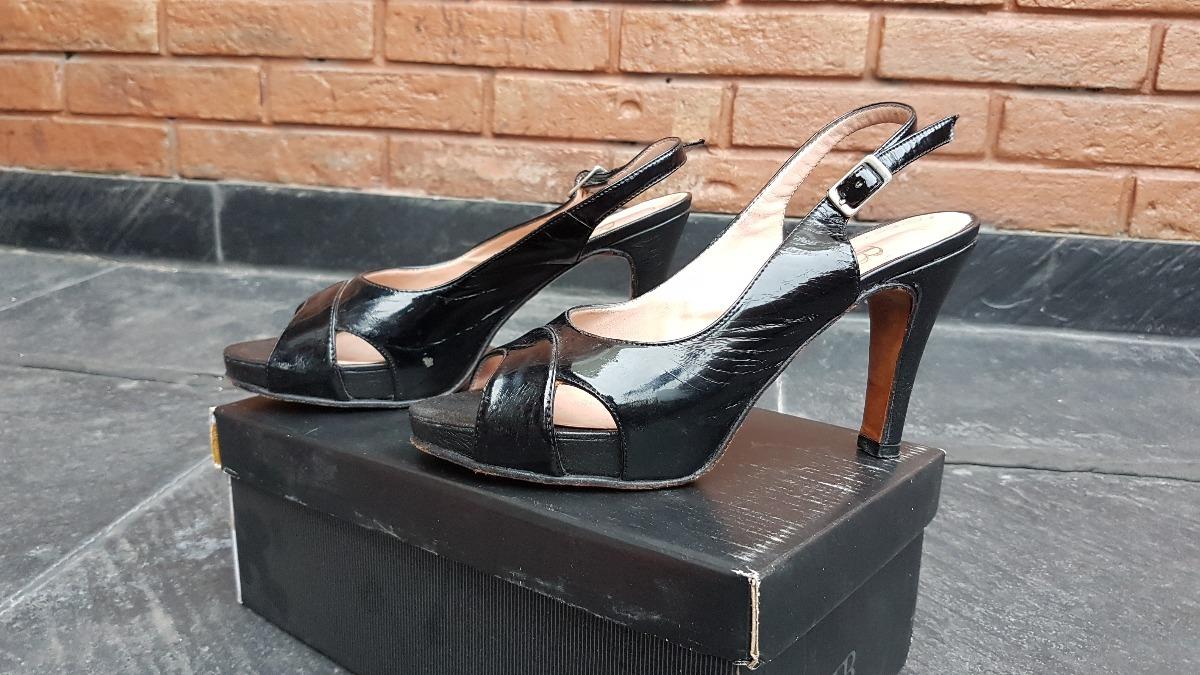 51a2dcb1869 Sandalias Plataforma Charol Negro Febo - $ 490,00 en Mercado Libre