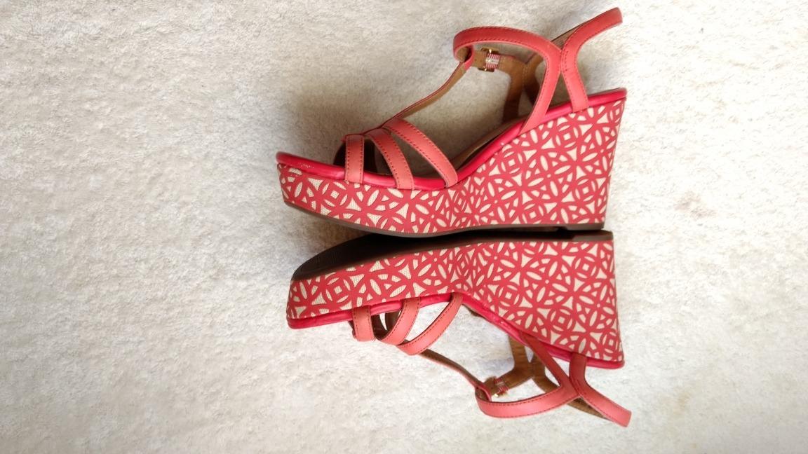 27 Sandalias 00 10m Clarks Usa Rojos Mex365 Plataforma Grandes n80OkwP