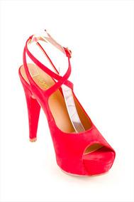 Guess Mujer Con Mercado Sandalias Calzado Plataforma En Rojas YbvymgIf67