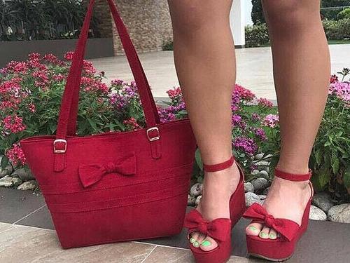 sandalias plataforma y bolso combo mujer calzado colombiano