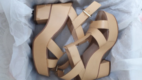 Basic Color Nude Plataforma Sandalias Zara 3jR54AL