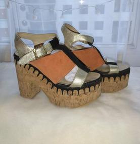 201fd421 Zapato Sandalia Plataforma - Calzados para Mujer Dorado en Mercado ...