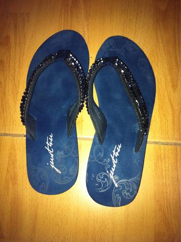 sandalias platanitos azul talla 35 mostacillas y lentejuelas