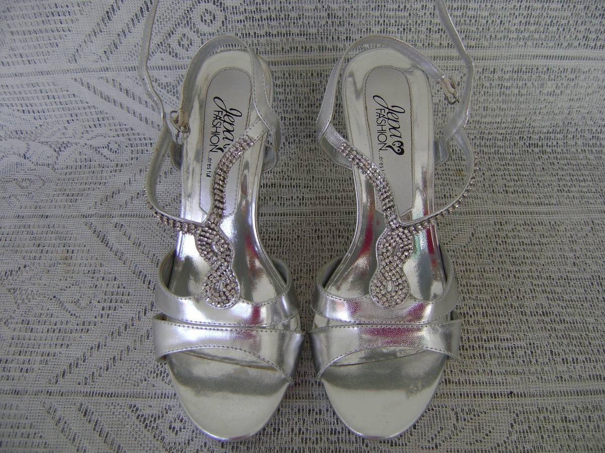Bs950 Plataforma Plateadas Con Sandalias De Cristales 00 0kOPn8w