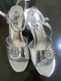 38 Fashion Sandalias Jepa Plateadas Talla Usadas sdQrth