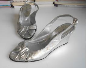 6661e2e9 Sandalias Taco Chino - Sandalias de Mujer Plateado en Mercado Libre  Argentina