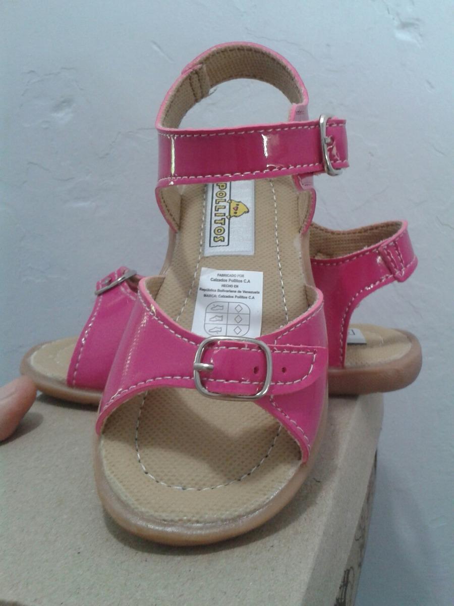 vista previa de precio de fábrica mejores telas Sandalias Pollitos Fucsia Niña Talla 23 Y Talla 24 Nuevas