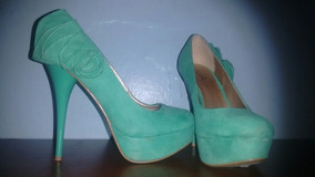 Mercado Libre Tacones Verde Mujer En Sandalias Aguamarina Zapatos GULVpqzMS