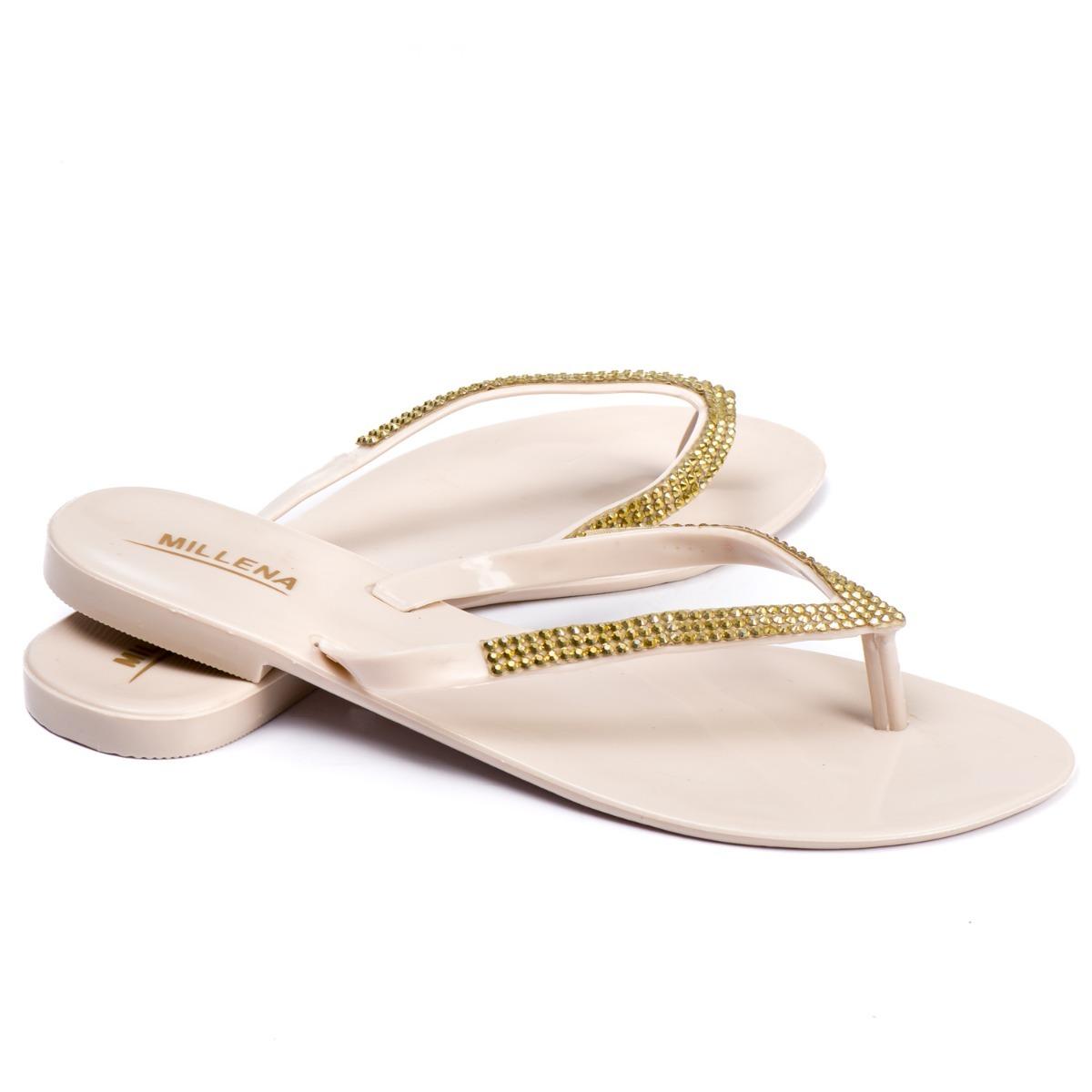623562dd2f sandálias rasteirinhas rasteira tipo melissa strass nude. Carregando zoom.