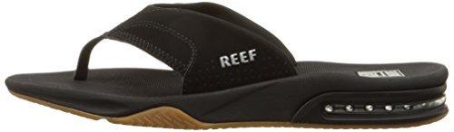 82d184336b2 Sandalias Reef Fanning Destapador Hombre Black silver 9 M Us ...