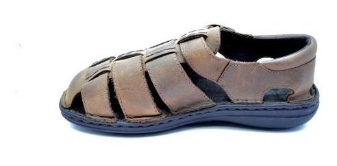 sandalias ringo franciscana 343 flex super comodas marron