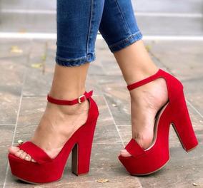 mejor selección de amplia selección de colores y diseños paquete elegante y resistente Sandalias Rojas Zapatos De Tacón Rojos Altos Envío Gratis