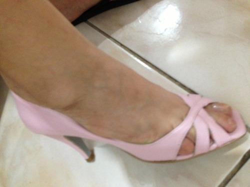 sandalias rosadas de vestir