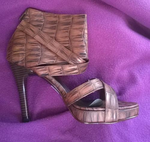 sandalias rústicas texturadas color marron nro 37 importadas