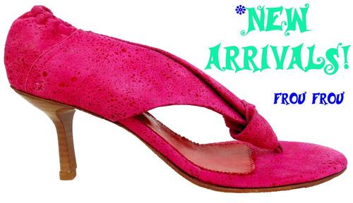 sandalias sexy cuero fucsia rosa pink taco 6 cms suela cuero