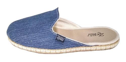 sandalias slippers mujer bajas con yute zoe wild