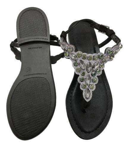 sandalias strass piedras negro blanco nude plata lenka fiesta cuotas envio sin cargo