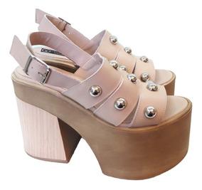 Ojotas Y Rockeros Sandalias Zapatos Mujer De Rosa R54AjL